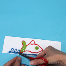 kids craft bookmark inspired by Mexican art