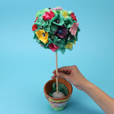 Tissue Paper Topiary