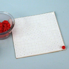 How to make a mosaic tile with beads
