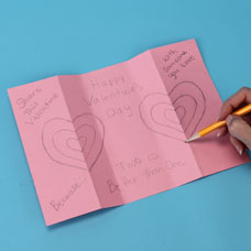 Make a Valentines Day Card Kids Craft