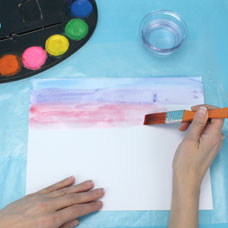 Kids art lesson how to watercolor