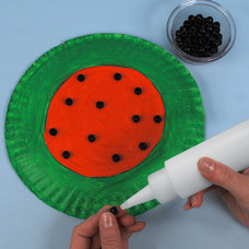 Step 4. & Paper Plate Watermelon - Craft Project Ideas