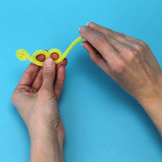 Children's craft hand puppet