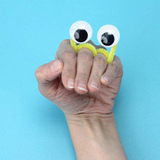 Wiggly eye puppet project