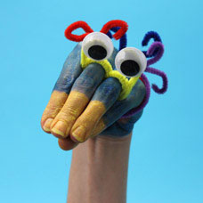 Wiggly Eye Bird Hand Puppet