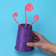Paper cup monster kids craft