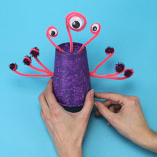 Wiggly Eye Monster Cup Project