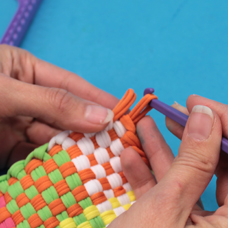 How To Use A Weaving Loom To Make A Potholder Craft Project Ideas