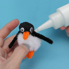 Child's arts and crafts project penguin