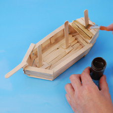 Wood Stick Ship - Craft Project Ideas