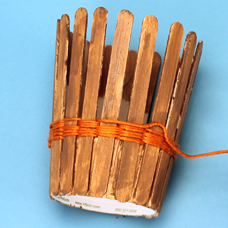 Simple basket weaving kids craft with friendship thread