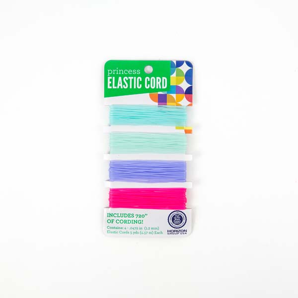 Teal Lavender Pink Elastic Cord Craft Project Ideas