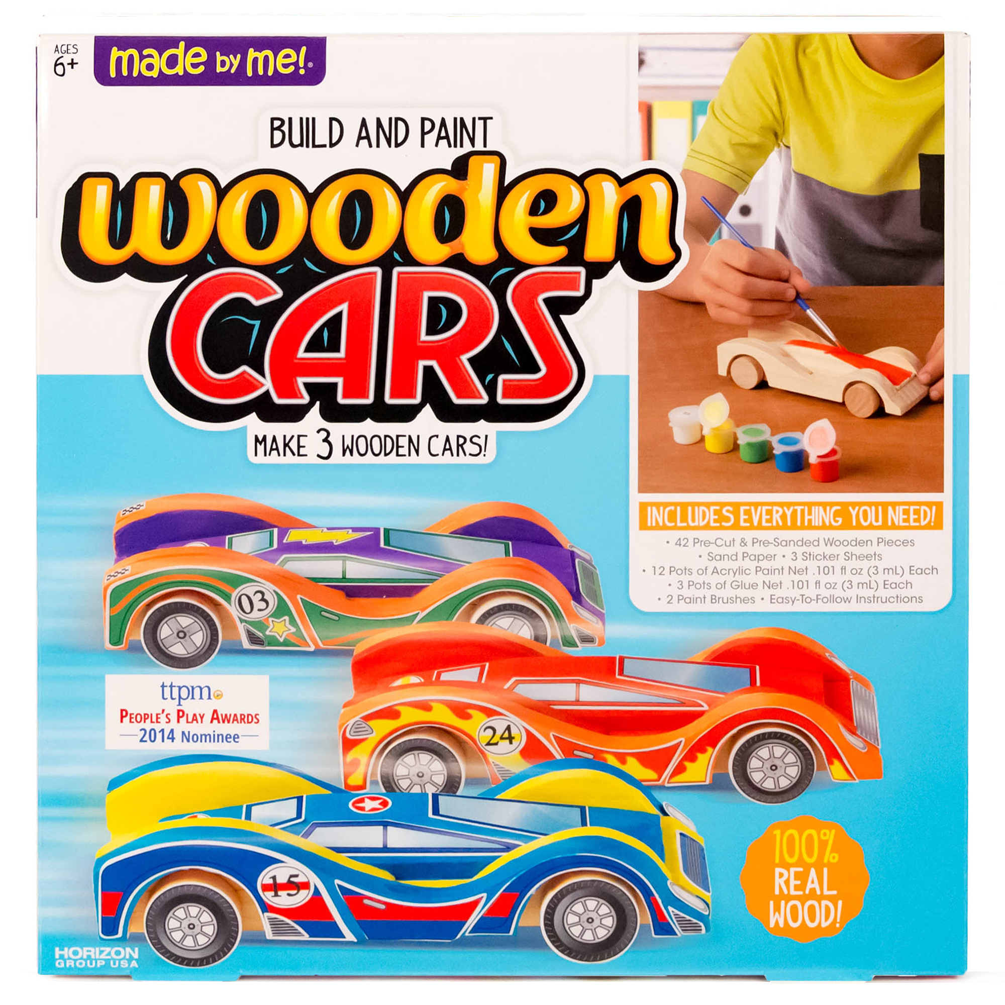 Made By Me Wooden Cars Craft Project Ideas