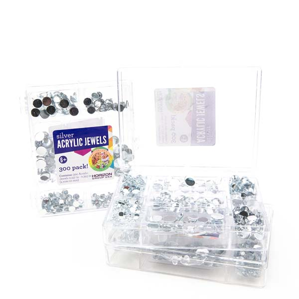 Acrylic Jewels Value Pack Silver Craft Project Ideas