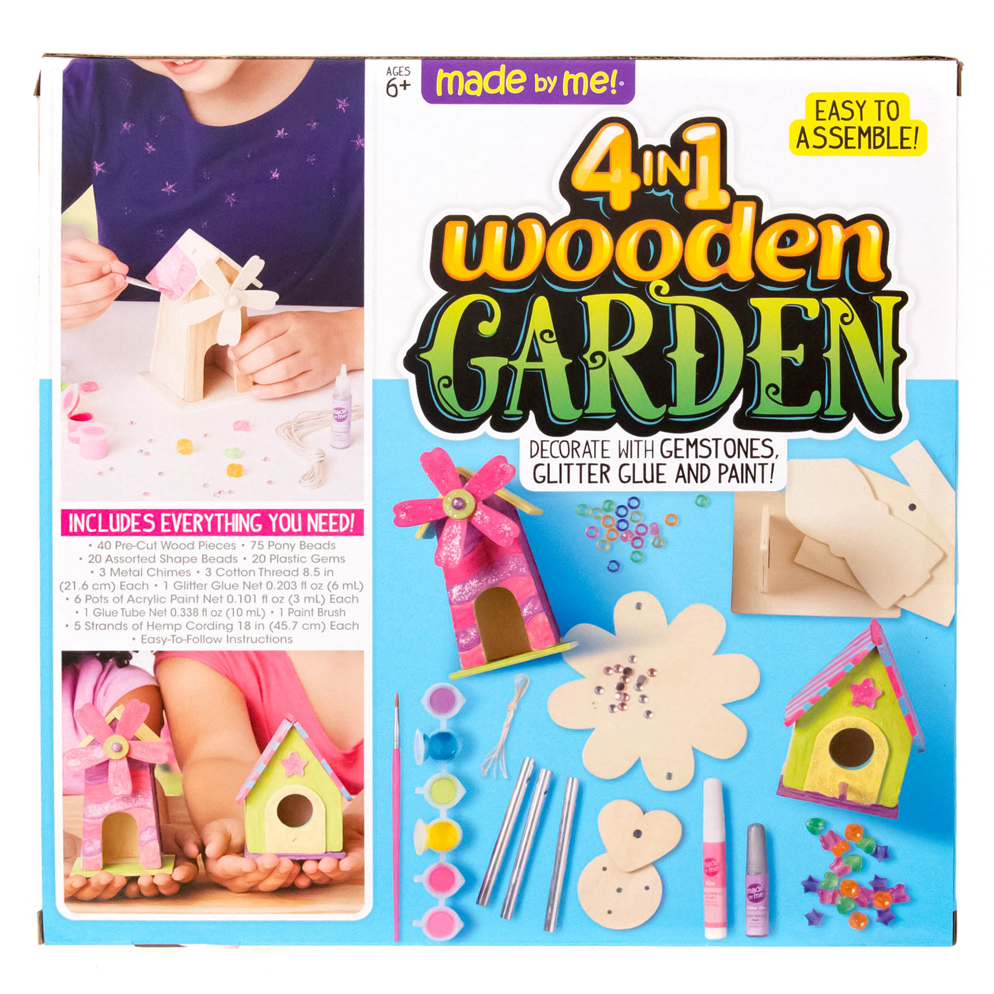 Made By Me 4 In 1 Wooden Garden Set Craft Project Ideas
