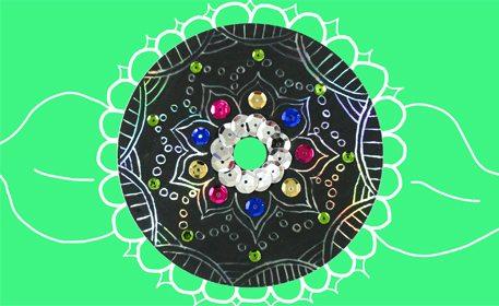 CD Scratch Art Mandala