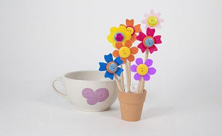 Felt flower bouquet craft project ideas for Beauty project ideas