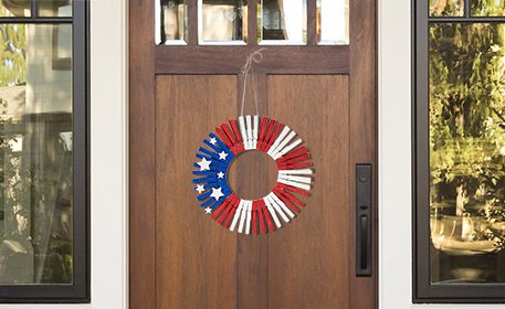 Red, White & Blue Clothespin Wreath - Craft Project Ideas
