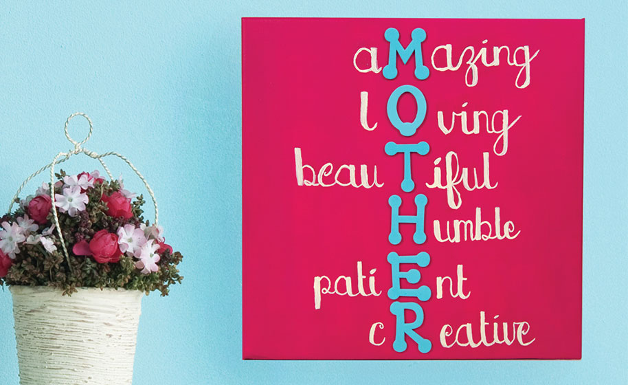 Mother Acrostic Poem Canvas Craft Project Ideas Looking for mothers day poems to write in a card? mother acrostic poem canvas craft