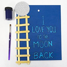 Quot I Love You To The Moon Amp Back Quot Craft Craft Project Ideas