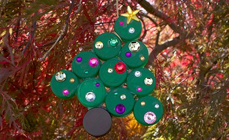 Bottle Cap Christmas Tree Ornament