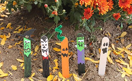 Craft Stick Halloween Characters Craft Project Ideas