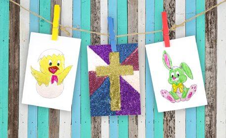 Easter Glitter Art Craft Project Ideas