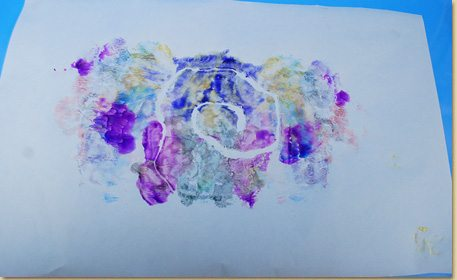 Finger Paint Transfer Art Craft Project Ideas