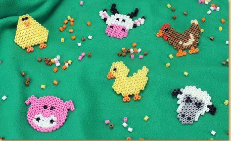 Melty Bead Farm Animals Craft Project Ideas