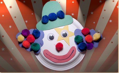 Paper Plate Clown & Paper Plate Clown - Craft Project Ideas