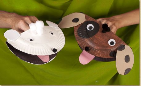 Paper Plate Puppy Puppet & Paper Plate Puppy Puppet - Craft Project Ideas