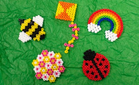 Spring Melty Bead Shapes Craft Project Ideas