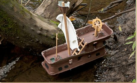 Egg carton pirate ship craft project ideas for How to recycle egg cartons