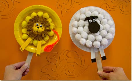 lion craft ideas and paper plate puppets craft project ideas 2350