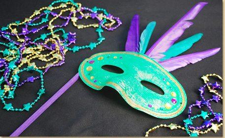 Mardi Gras Mask Craft Project Ideas