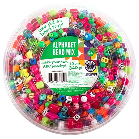 Alphabet Beads Tub   Craft Project Ideas