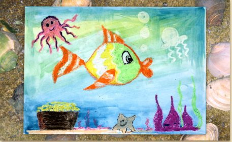 watercolor resist art craft project ideas
