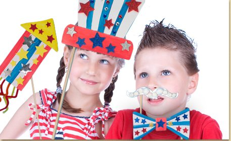 Patriotic Photo Props Craft Project Ideas