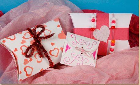 Valentine Gift Box Envelope Printables Craft Project Ideas