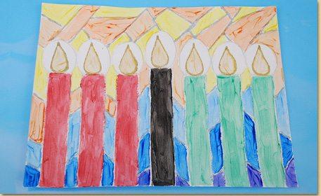 Kwanzaa Candle Art Craft Project Ideas