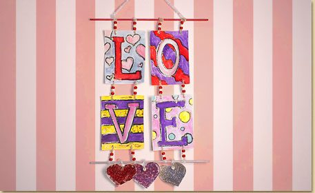 Love Wall Hanging Craft Project Ideas