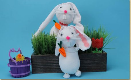No Sew Sock Bunny Craft Project Ideas
