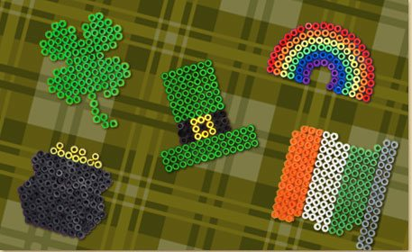 St Patrick S Day Melty Bead Shapes Craft Project Ideas
