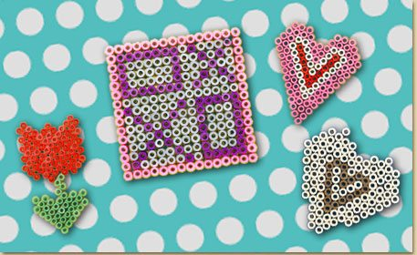 Valentine\'s Day Melty Bead Shapes - Craft Project Ideas