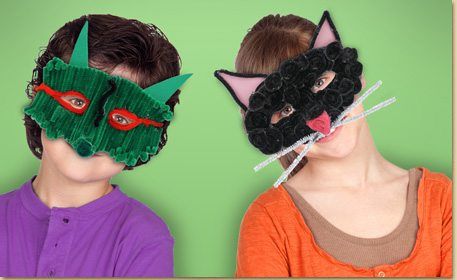 Green Monster Mask Craft Project Ideas