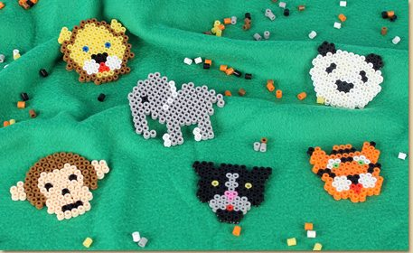 Melty Bead Zoo Animals Craft Project Ideas