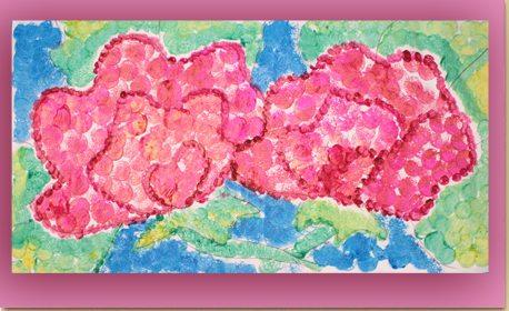 Pointillism Poppy Painting Craft Project Ideas