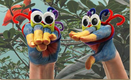 Wiggly Eye Hand Puppet Craft Project Ideas