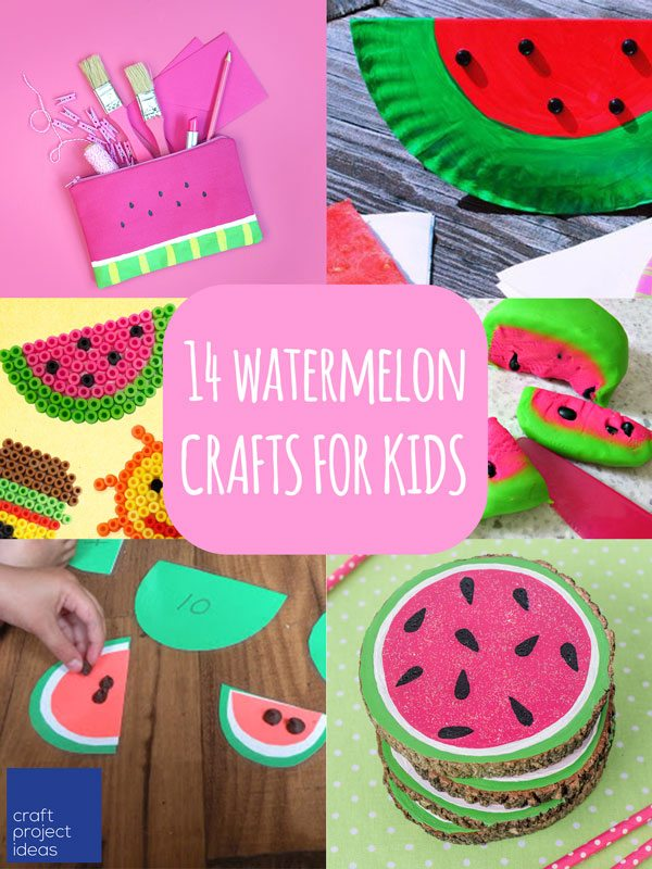 14 Watermelon Crafts For Kids Craft Project Ideas