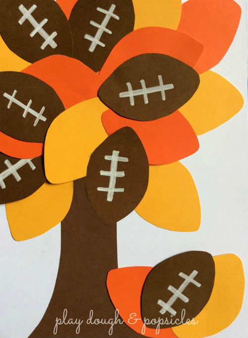 Play Dough & Popsicles Football Tree